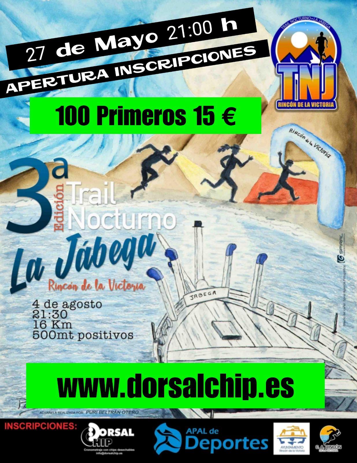 Apertura inscripciones 3ª Trail Nocturno La Jabega